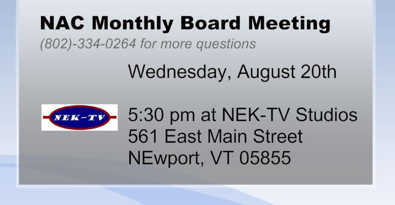 NEK-TV - August 2014 Meeting Annc for Website